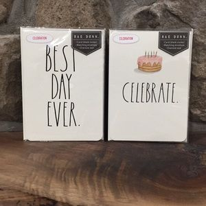 Rae Dunn BEST DAY EVER and CELEBRATE. Blank Cards